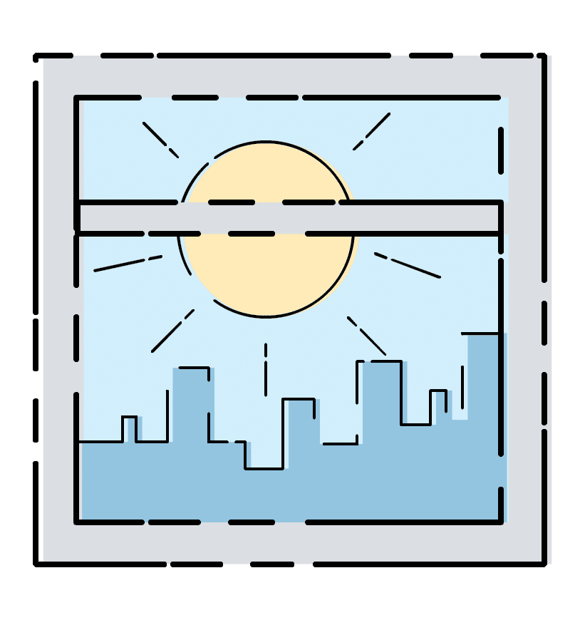 Window with a NYC Skyline View
